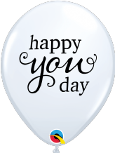 Simply Happy You Day Balloons (White) - 11 Inch Balloons 25pcs
